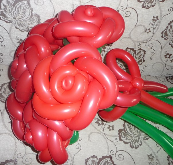 Роза из воздушных шаров своими руками пошаговое фото